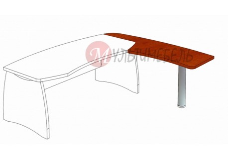 Стол приставной М-306 1862х640х750мм