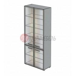 Шкаф витрина со стеклом М-801 900х420х2166мм