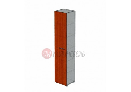 Шкаф для папок закрытый узкий М-711 450х420х2166мм