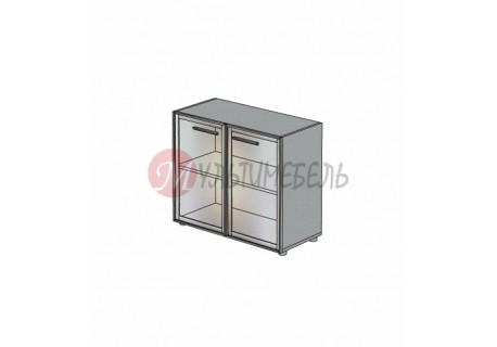 Шкаф низкий со стеклянными дверцами М-803 900х420х745мм