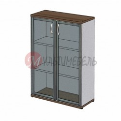 Шкаф для документов со стеклянными дверями в алюминиевой раме MM3-026
