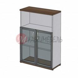 Шкаф для документов MM3-027 со стеклянными дверями в алюминиевом профиле