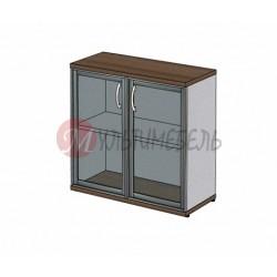 Шкаф для документов MM2-024 сплошные двери из стекла в алюминиевой раме