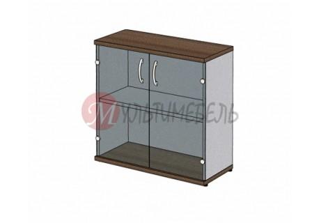 Шкаф для документов MM2-023 сплошные двери из стекла