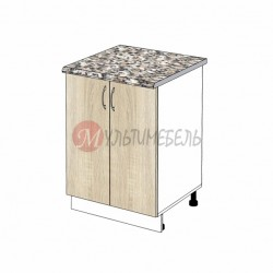 Шкаф кухонный напольный К03 600х600х850