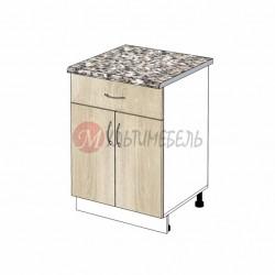 Шкаф кухонный напольный с выдвижным ящиком К04 600х600х850