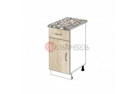 Шкаф кухонный напольный узкий с выдвижным ящиком К01 400х600х850