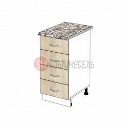 Шкаф кухонный напольный с выдвижными ящиками К02 400х600х850