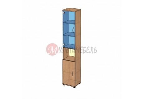 Шкаф витрина узкий B-43.22.12 400х358x2176мм