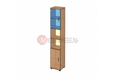 Шкаф витрина узкий B-43.22.11 400х358x2176мм