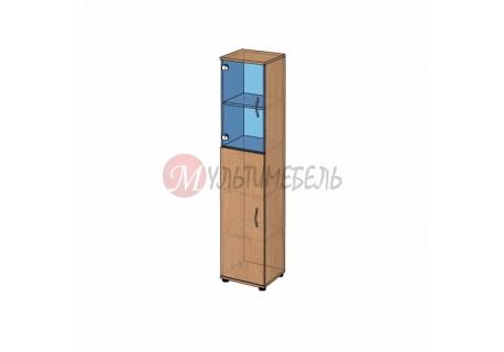 Шкаф со стеклом узкий B-43.21 400х358x1824мм