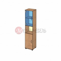 Шкаф со стеклом узкий B-43.11 400х358x1824мм