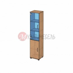 Шкаф со стеклом узкий B-43.12 400х358x1824мм