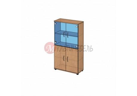 Шкаф со стеклом низкий B-62.11 800х358x1472мм