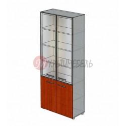 Шкаф для папок со стеклом М-804 900х420х2166мм