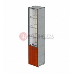 Шкаф со стеклом узкий М-814 450х420х2166мм