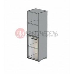 Шкаф со стеклянной дверью в алюминиевом профиле М-812 450х420х1451мм