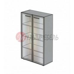 Шкаф со стеклянными дверцами М-802 900х420х1451мм