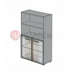 Шкаф со стеклянными дверцами М-808 900х420х1451мм