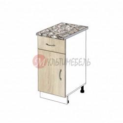 Шкаф кухонный напольный узкий с выдвижным ящиком К01 300х600х850