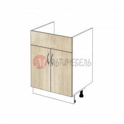 Шкаф кухонный напольный под накладную мойку К03/1 600х600х850
