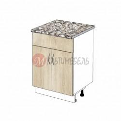 Шкаф кухонный напольный под врезную мойку К05/1в 600х600х850