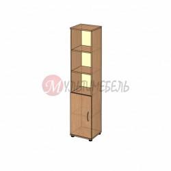 Узкий шкаф для документов с дверью В-43.1