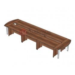 Купить стол для переговоров с массивной столешницей Вельс на 16 участников