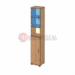 Шкаф витрина узкий B-43.22.21 400х358x2176мм