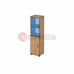 Шкаф со стеклом низкий B-61.11 400х358x1472мм